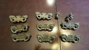Antique Vintage Drawer Pulls Handles Set Of 8 Plus 3 Knobs 3 5