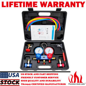 R134a R12 R22 Hvac A C Refrigeration Kit Ac Manifold Gauge Set Auto Service Kit