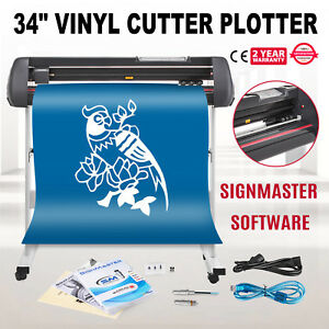 34 Vinyl Cutting Plotter Sign Cutter Printer Sticker Wide Format Led Display