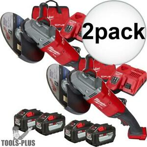 Milwaukee 2785 22hd M18 Fuel 7 9 Large Angle Grinder 2 Battery Kit 2x New