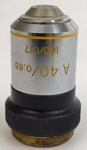 Bausch Lomb A40 0 65 I60 0 17 Microscope Objective