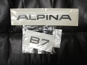 Bmw F01 F02 E65 E66 B7 Alpina Original Trunk Emblems Set 2002 up