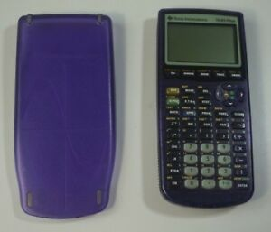 Texas Instruments Ti 83 Plus Clear Translucent Purple Cover tested