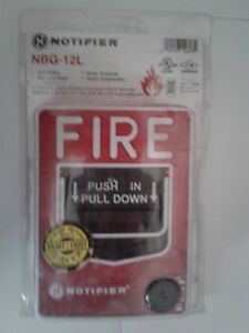 New Notifier Nbg 12l Fire Alarm Pull Station Monitor Module Factory Sealed