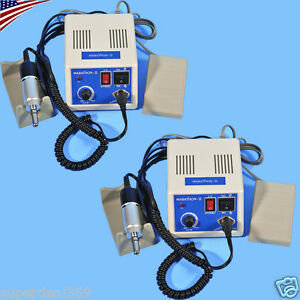 2 Sets Usa Stock Electric Marathon Micro Motor Polisher 35k Rpm Handpiece So_r