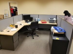 2 Executive Cubical Desk Spaces 8 1 2 Foot By 8 1 2 Foot 17 Feet Together