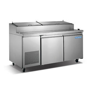 Norpole Refrigerated 2 Door Pizza Prep Table Np2r pt