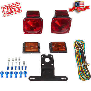 Rear Lights Submersible Trailer Boat Truck Tail Wiring Marker Waterproof Kit Car