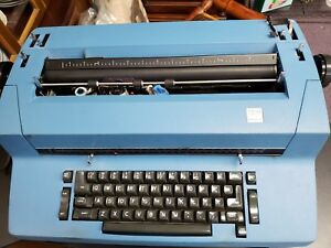 Blue Ibm Selectric Ii Electric Typewriter With Extra Ribbons And Head Typefaces