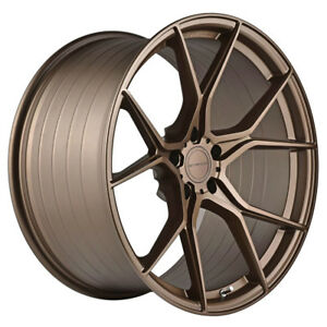 19 Stance Sf07 Forged 19x8 5 Bronze Concave Wheels Rims Fits Audi C6 A6