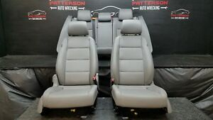 2006 Vw Jetta Set Of Left Right Seats Power Front Rear Leather Gray Mr