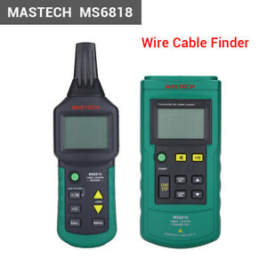 Ms6818 Professional Wire Cable Tracker Metal Pipe Locator Detector Tester R1