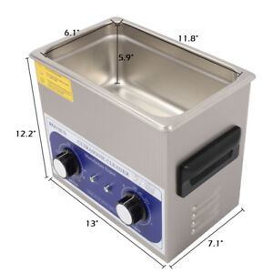 6l Industry Ultrasonic Cleaner Jewelry Dishware Cleaning Machine W Timer Heater