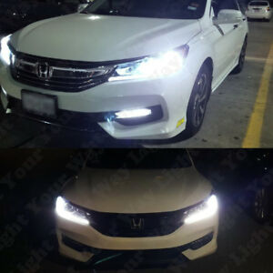 White Led Low Beam Headlight Switchback Signal Bulbs For 2016 2017 Accord Civic