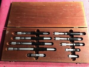 Starrett Fixed Inside Micrometer Set 2 12 Inch Model 824 Machinist Tools