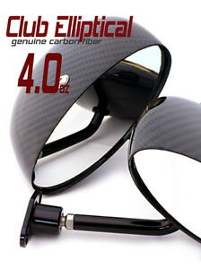 Motor Racing Mirrors Club Elliptical Carbon Fiber Scca Nasa Pair