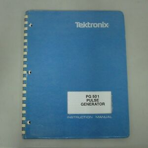 Tektronix Pg501 Pulse Generator Instruction Manual p n 070 1361 01
