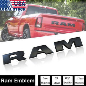 Oem Dodge Ram Rebel Tailgate ram Emblem Letters Black New Free Shipping