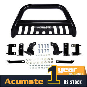 Black Front Bumper Bull Bar Grill Grille Guard For 2009 2018 Dodge Ram 1500