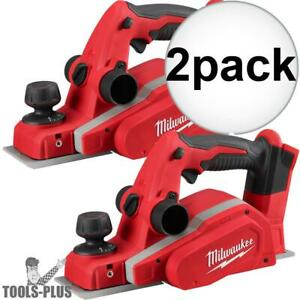 Milwaukee 2623 20 M18 3 1 4 Planer tool Only 2x New