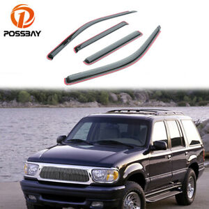 4x Window Visor Deflector Rain Guards For Ford Explorer 2001 2002 2003 2004 2005