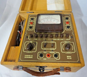 Rare Vintage Superior Company Instruments Pb 210 Tube Tester Multimeter