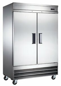A c e Commercial Reach in Refrigerator 47 Cuft Stainlesssteel Double Solid Door