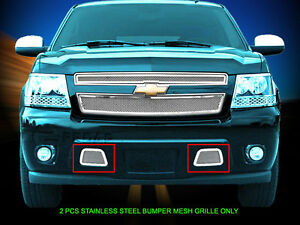 Tow Hook Wire Mesh Grille Grill For 2007 2014 Chevy Tahoe Avalanche Suburban