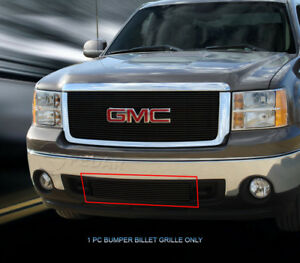 Black Billet Grille Front Bumper Grill For 2007 2013 2012 Gmc Sierra 1500