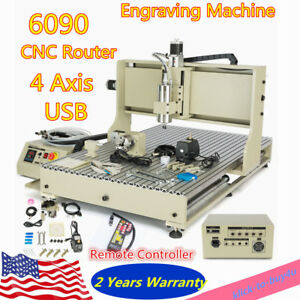 Vfd Usb Cnc Router 4axis 2 2kw 6090 Carving Machine Metal Wood Engraving Machine