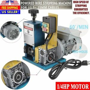 Portable electric Wire Stripping Machine Tool Scrap Cable Stripper Us Plug