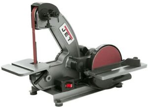 Jet Disc Sander 8 1 3 Hp Benchtop Belt Cast Iron Tilting Table Dust Port Wheels