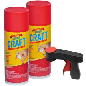 New Plasti Dip Craft Kit 2 11 Oz Aerosol Tin Roof Red And 1 Cangun