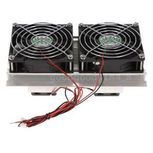Thermoelectric Peltier Refrigeration Cooling System Kit Cooler Double Fans Q8e8
