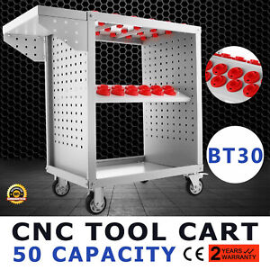 Bt30 Cnc Tool Trolley Cart Holders 50 Capacity Service Cart Utility He