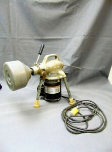 Vintage Commercial Grade Ridgid Kollman Electric Sectional Power Drain Cleaner