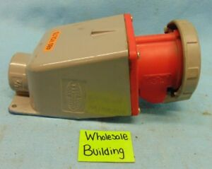 Hubbell 460r7w Pin Sleeve Receptacle With Box 1 1 2 Outlet 3 Phase 60 A