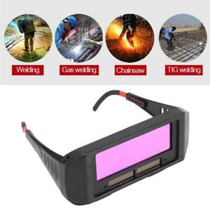 1 Pair Solar Auto Darkening Welding Goggle Safety Protective Glasses Mask