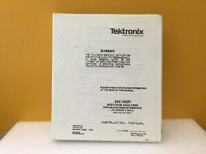 Tektronix 070 2852 03 492 492p Spectrum Analyzer Instruction Manual