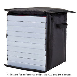 Cambro Gbpp212110 Black Pizza Delivery Bag Two 12 Pizza Capacity