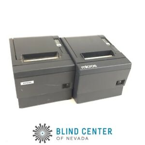 Lot Of 2 Epson M129c Tm t88iip Pos Thermal Printer Parallel Idn Interface b