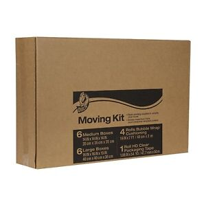 Duck Brand Moving Kit Includes Bubble Wrap Boxes And Packing Tape