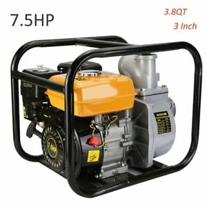 7 5hp 3 Gas Water Pump 3 8 Qt 16 000 Gph Semi Trash Pump 3 Inch Inlet Outlet Vp