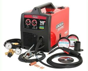 Electric Welding Kit Lincoln Mig Wire Feed Welder Weld Pak Spool Gun 140 Amp