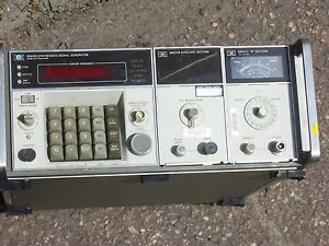 Hp 8660b Synthesized Signal Generator With 86631b Auxiliay Section