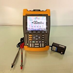 Fluke 199c Handheld Digital Color Scopemeter 200mhz 2 5gs s Tested