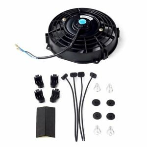 7 Slim Fan Push Pull Electric Radiator Cooling 12v Mount Kits