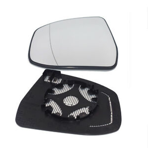 Left For Ford Focus Mondeo 2012 2017 Side Door Wing Mirror Glass Heated White