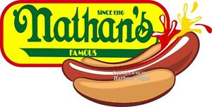 choose Your Size Nathan s Hot Dogs Decal Dog Concession Food Truck Sticker