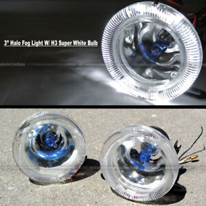 For Xl7 3 Round Super White Halo Bumper Driving Fog Light Lamp Compl Kit